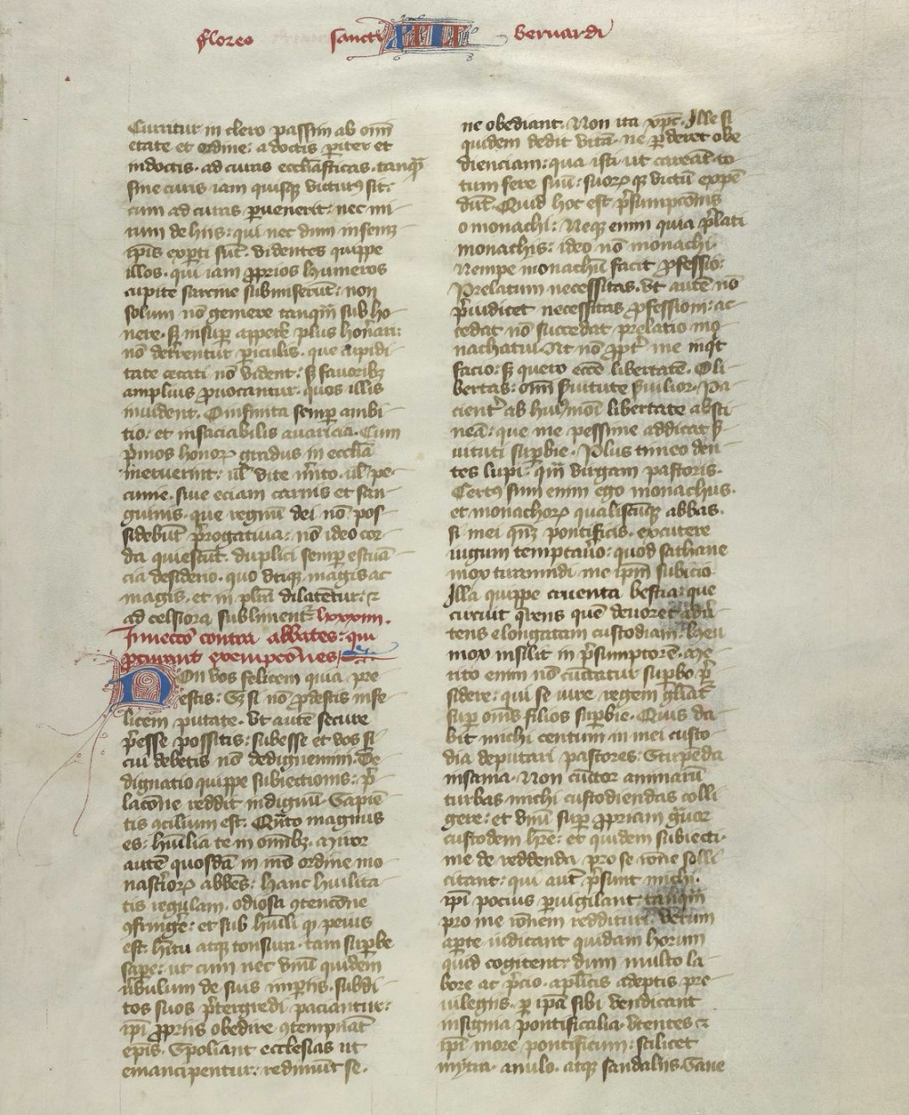 page from a copy of Speculum Historiale