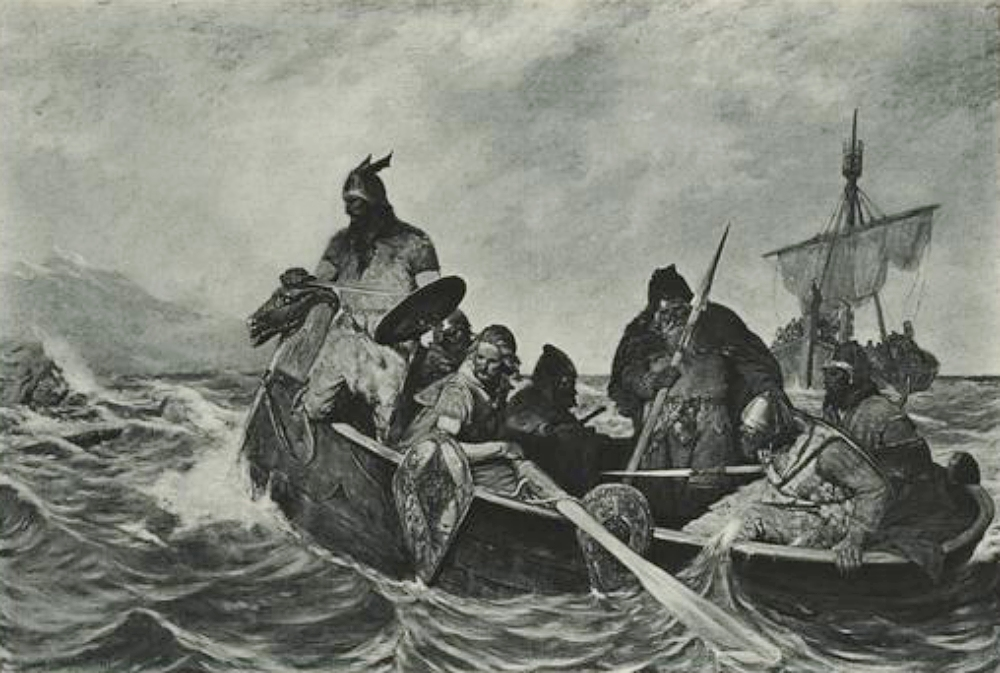1877 depiction of Vinland exploration by Leif Eriksson