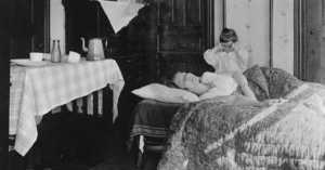 mother struck down from Spanish Flu in 1918