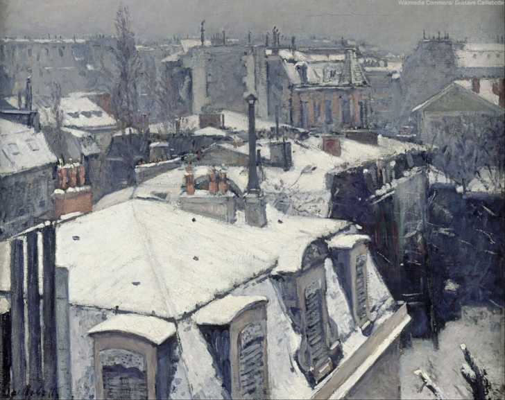Rooftops in the Snow by Gustave Caillebotte 1878