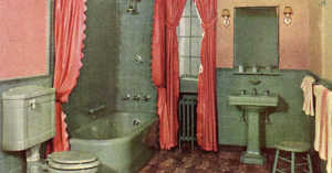 1930ss colorful bathroom