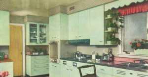 1954 mint green kitchen