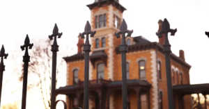 Lebold Mansion exterior and iron gate