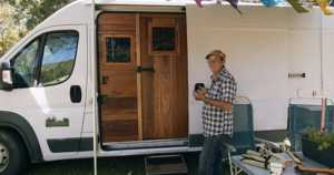 64-year-old lives in a custom campervan